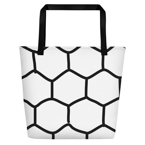 Black & White Hex Beach Tote