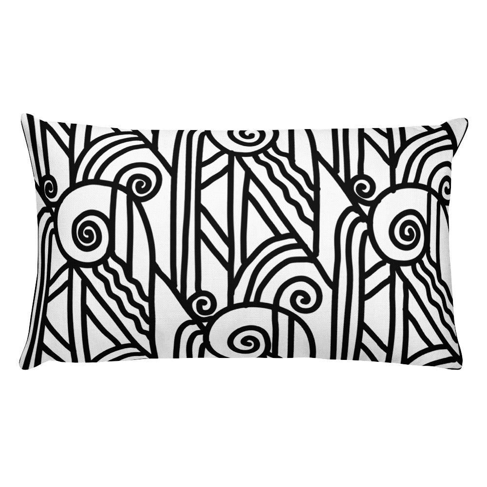 Art Deco Steam Stacks Decorative Lumbar Throw Pillow - Artski&Hush