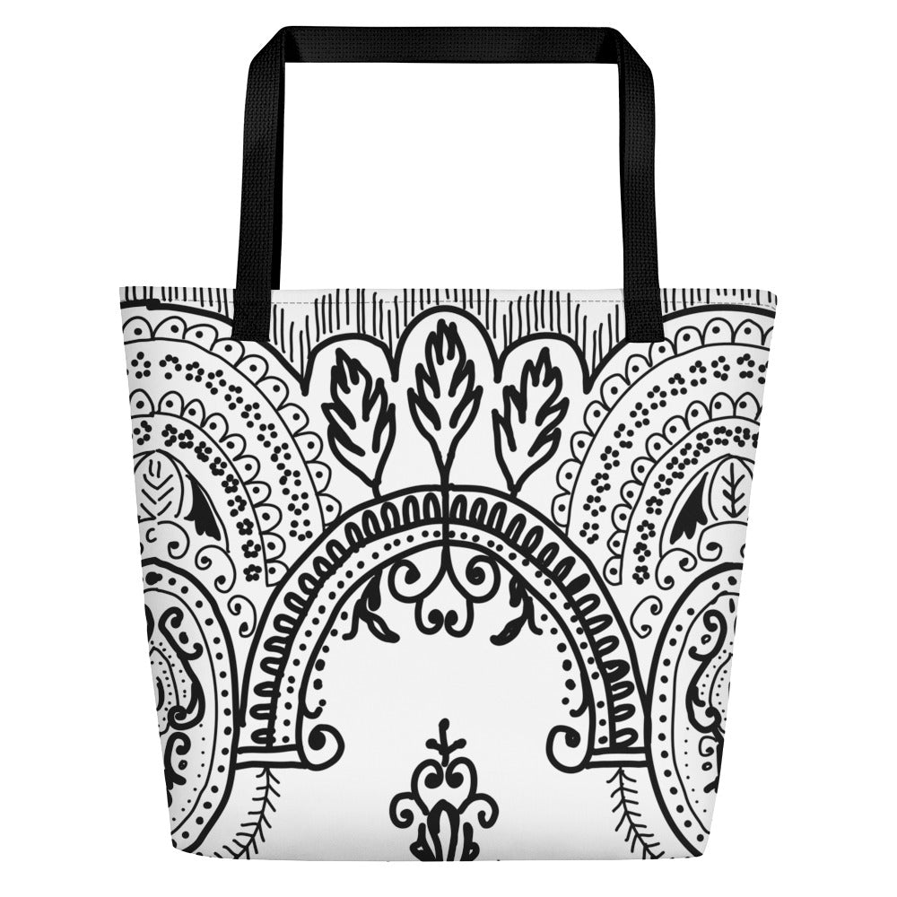 Arched Lace Beach Toting Bag
