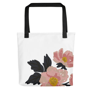 White Flora Toting Bag - Artski&Hush