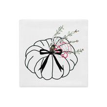 Load image into Gallery viewer, Long Bow Carnation Pumpkin Pillow Cover - Artski&Hush