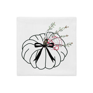Long Bow Carnation Pumpkin Pillow Cover - Artski&Hush