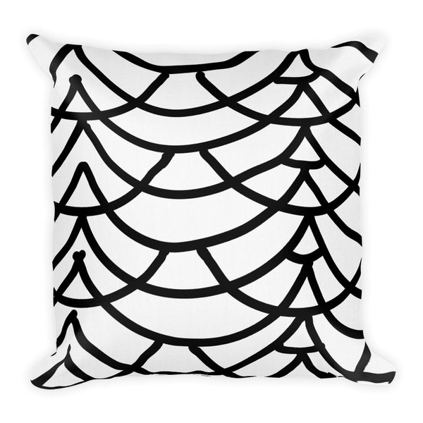 Art Deco Drapes Throw Pillow