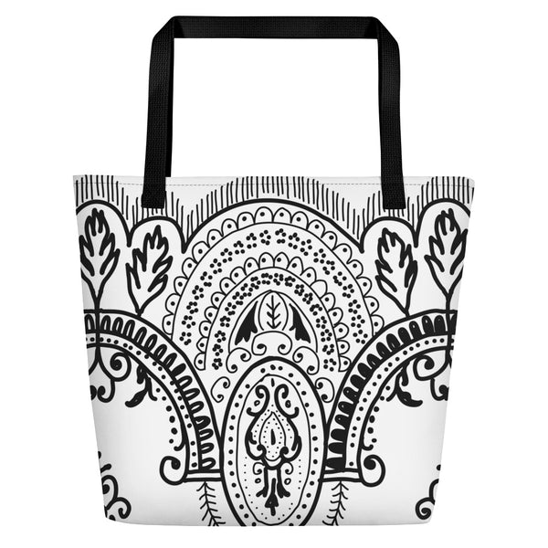 Arched Lace Beach Bag