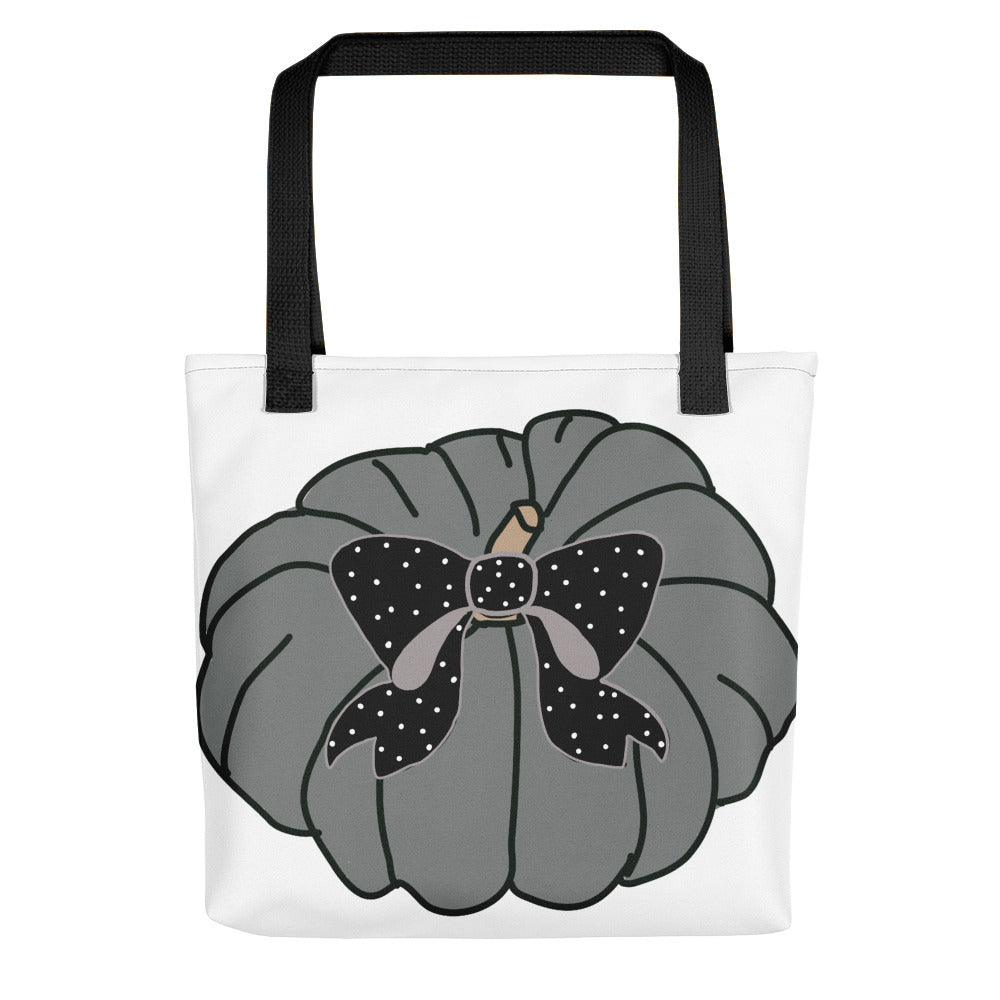 Polka Bow Pumpkin Toting Bag - Artski&Hush