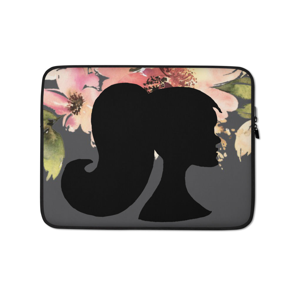 A&H Floral Profile Laptop Sleeve
