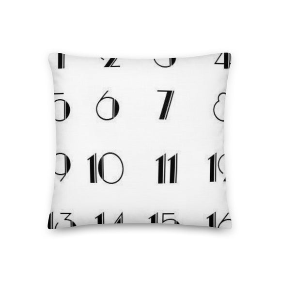 Art Deco Numbers Throw Pillows