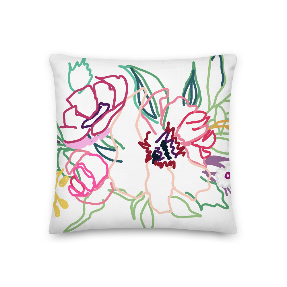 Flora Decorative Throw Pillow - Artski&Hush