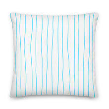 Load image into Gallery viewer, Spring Turquoise Stripes Decorative Throw Pillow - Artski&Hush
