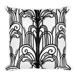 Art Deco Fountains Throw Pillow