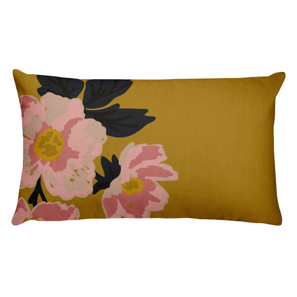 Golden Flora Throw Pillows