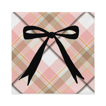 Load image into Gallery viewer, Pink Plaid Long Bow Decorative Pillow Cover - Artski&Hush