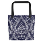 Navy Art Deco Tote Bag