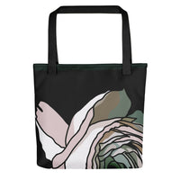 Dramatic Rose Tote Bag