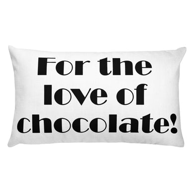 For the Love of Chocolate! Decorative Lumbar Throw Pillow - Artski&Hush