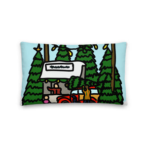 Tree Lot Lumbar Decorative Pillow