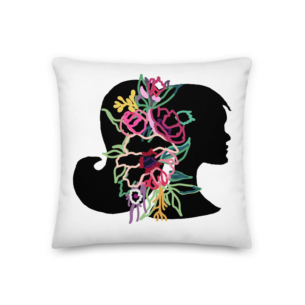 Colorful Silhouette Decorative Throw Pillow - Artski&Hush