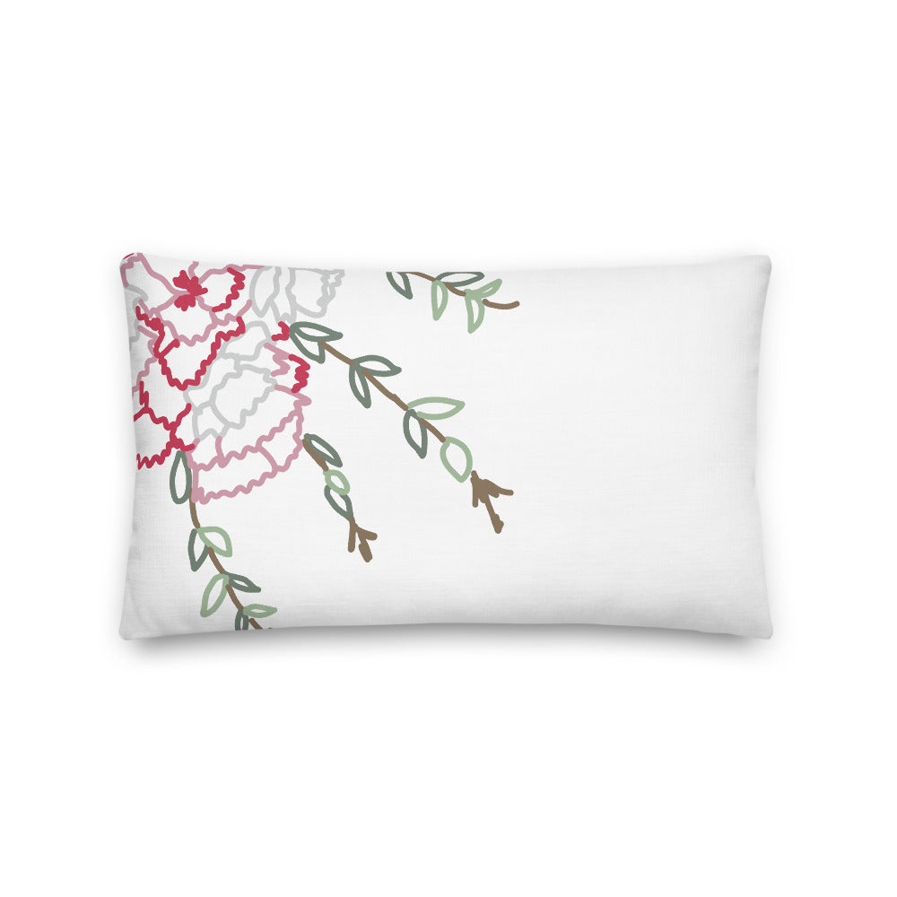 Spring Carnations Decorative Throw Lumbar Pillow - Artski&Hush
