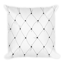 Load image into Gallery viewer, Tufted B & W Rose Decorative Throw Pillow - Artski&Hush