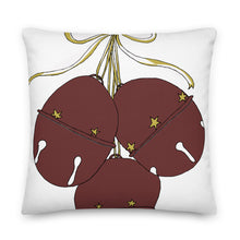 Load image into Gallery viewer, Burgandy Bells Decorative Throw Pillow - Artski&Hush