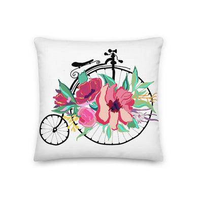 Flora Bicycle Decorative Throw Pillow - Artski&Hush