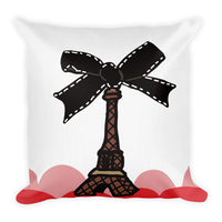 Paris Bow Throw Pillow