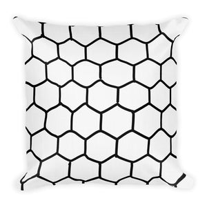 Hex Flora Decorative Throw Pillows - Artski&Hush