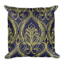 Load image into Gallery viewer, Navy Art Deco Lily Decorative Throw Pillows - Artski&Hush