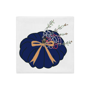 Navy Pumpkin Pillow Cover - Artski&Hush