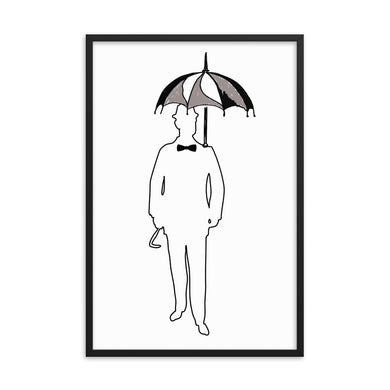 The Gentleman with Umbrella Framed poster - Artski&Hush