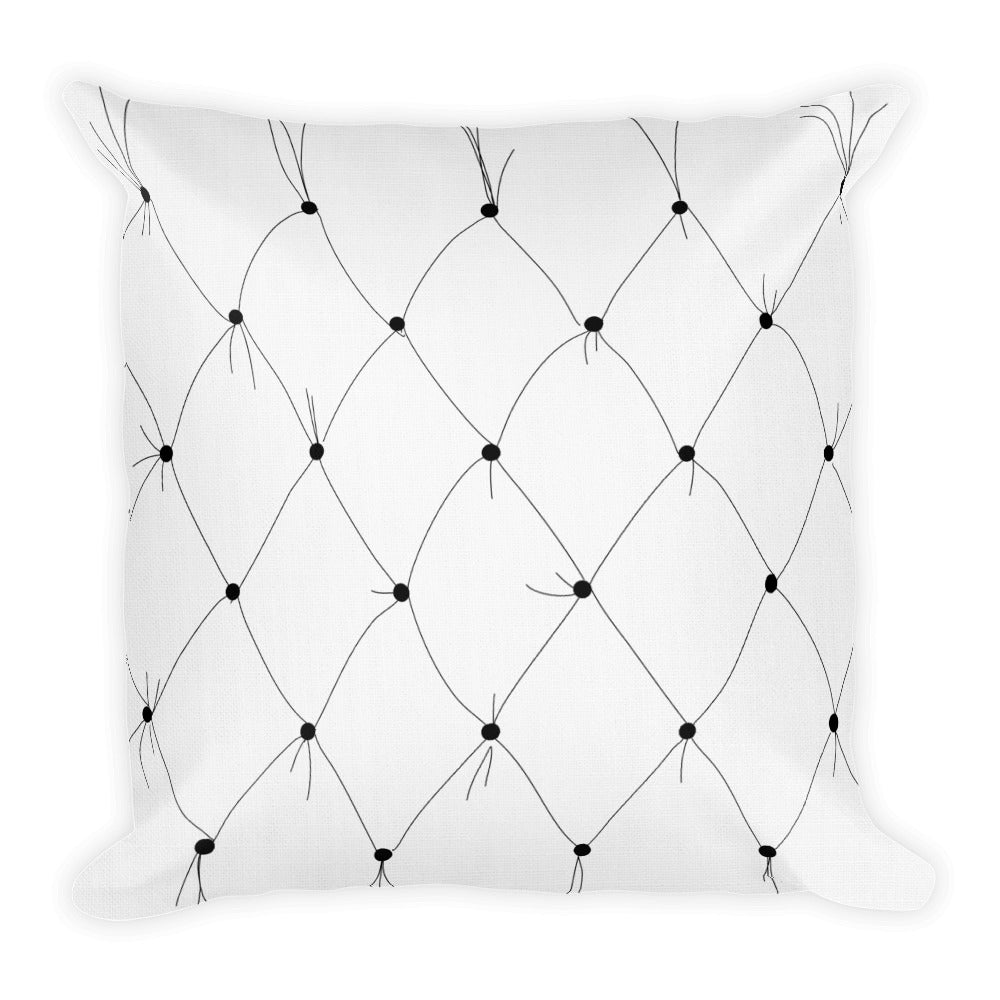 Tufted Silhouette Decorative Throw Pillow - Artski&Hush