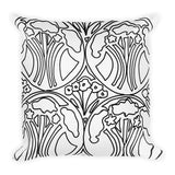 Art Deco Forest Throw Pillows