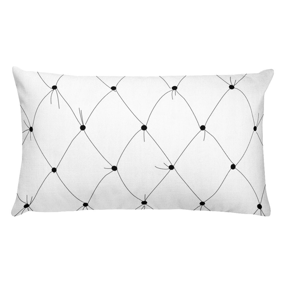 Navy Art Deco Lily Decorative Throw Pillows - Artski&Hush