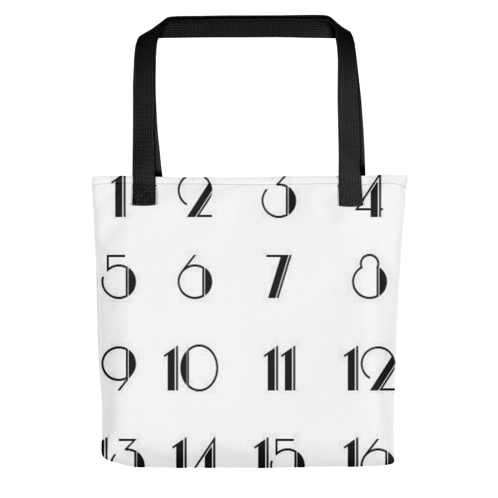 Art Deco Numbers Toting bag