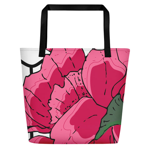 Hex Flora Beach Bag