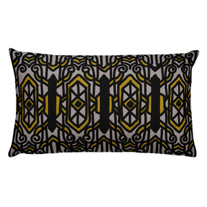 Arts Deco Three Grey Decorative Throw Pillow - Artski&Hush