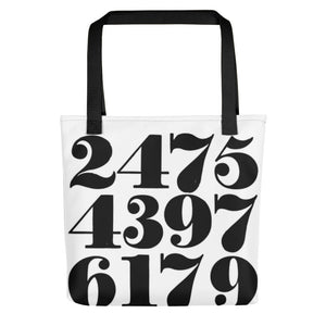 Vintage Numbers Toting bag - Artski&Hush