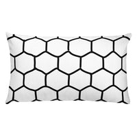Honeycomb Patterned Throw Pillows