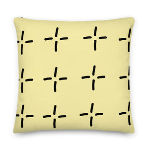Yellow Stars Decorative Lumbar Pillow - Artski&Hush