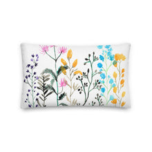 Load image into Gallery viewer, Floral Medley Watercolor Decorative Throw Pillows - Artski&Hush