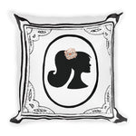 Framed Profile Throw Pillow