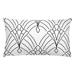 Art Deco Peaks White Decorative Throw Pillow - Artski&Hush