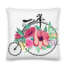Load image into Gallery viewer, Flora Bicycle Decorative Throw Pillow - Artski&Hush