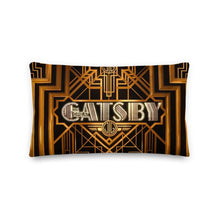 Load image into Gallery viewer, Golden Gatsby Decorative Lumbar Throw Pillow - Artski&Hush