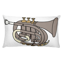 Load image into Gallery viewer, Trumpet Decorative Throw Pillow - Artski&Hush