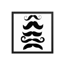 Load image into Gallery viewer, The Mustache Collection Framed poster - Artski&Hush