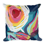 Loose Flora Painting Throw Pillow