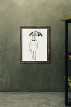 Load image into Gallery viewer, The Gentleman with Umbrella Framed poster - Artski&Hush