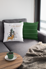 Load image into Gallery viewer, Oh deer! Decorative Christmas Throw Pillow