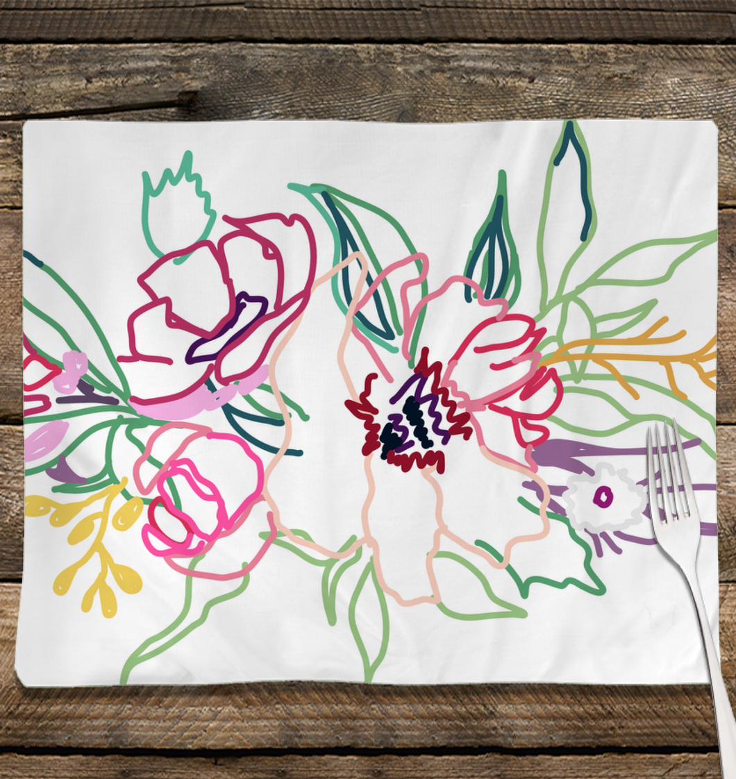 Spring Colorful Gathering Place Mat - Artski&Hush